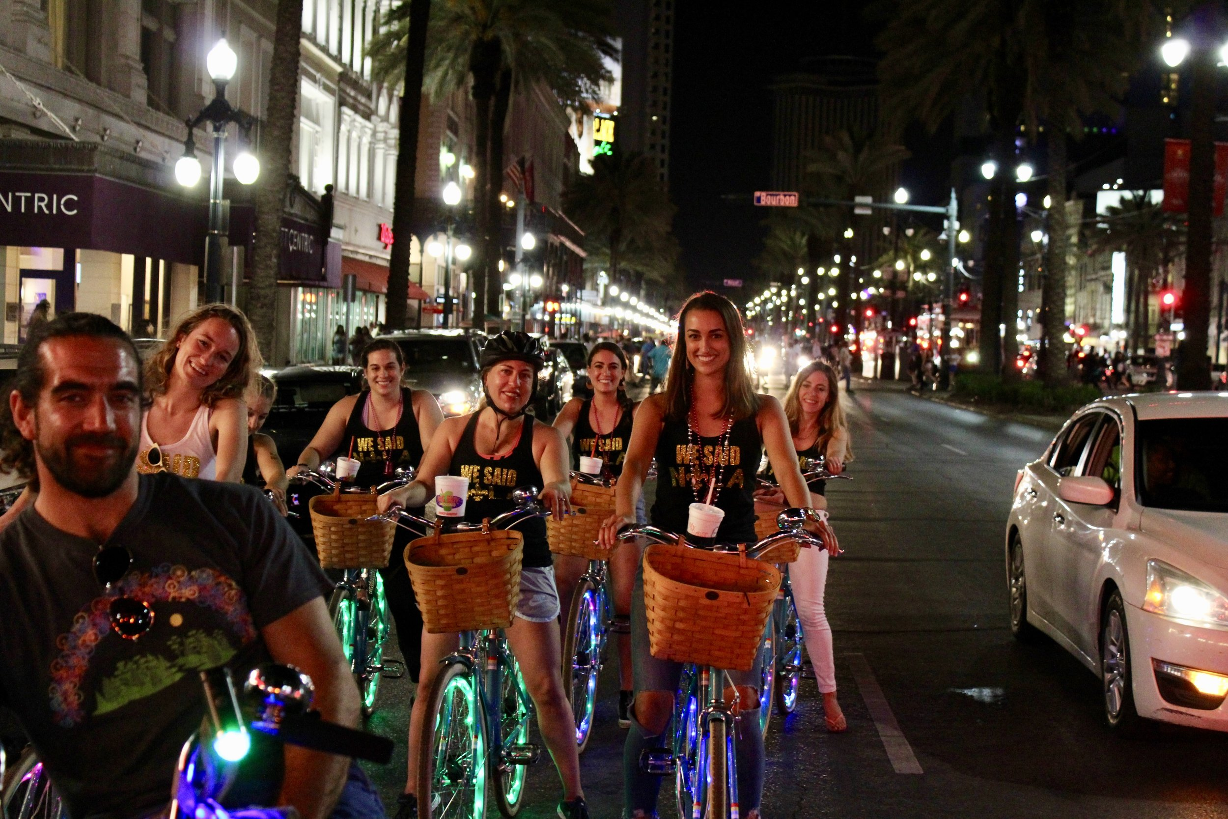 Glow on our New Orleans Bike Ride