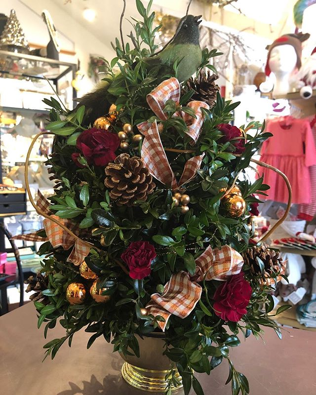 Place your order for a partridge boxwood tree!  #daisydigins #tabledecor #boxwoodtrees #barringtonri #holidaydecor