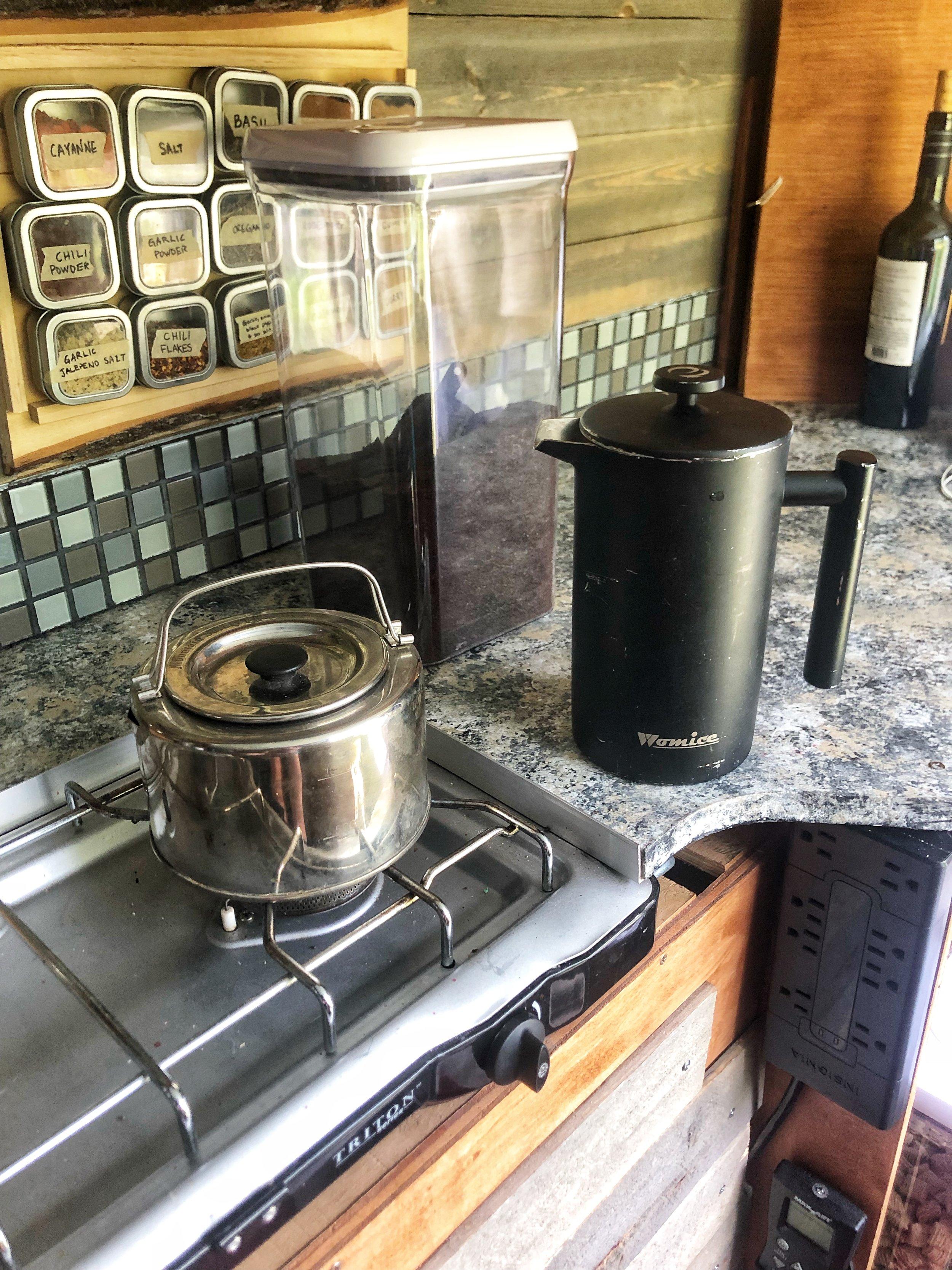Our complete camper van coffee kit!