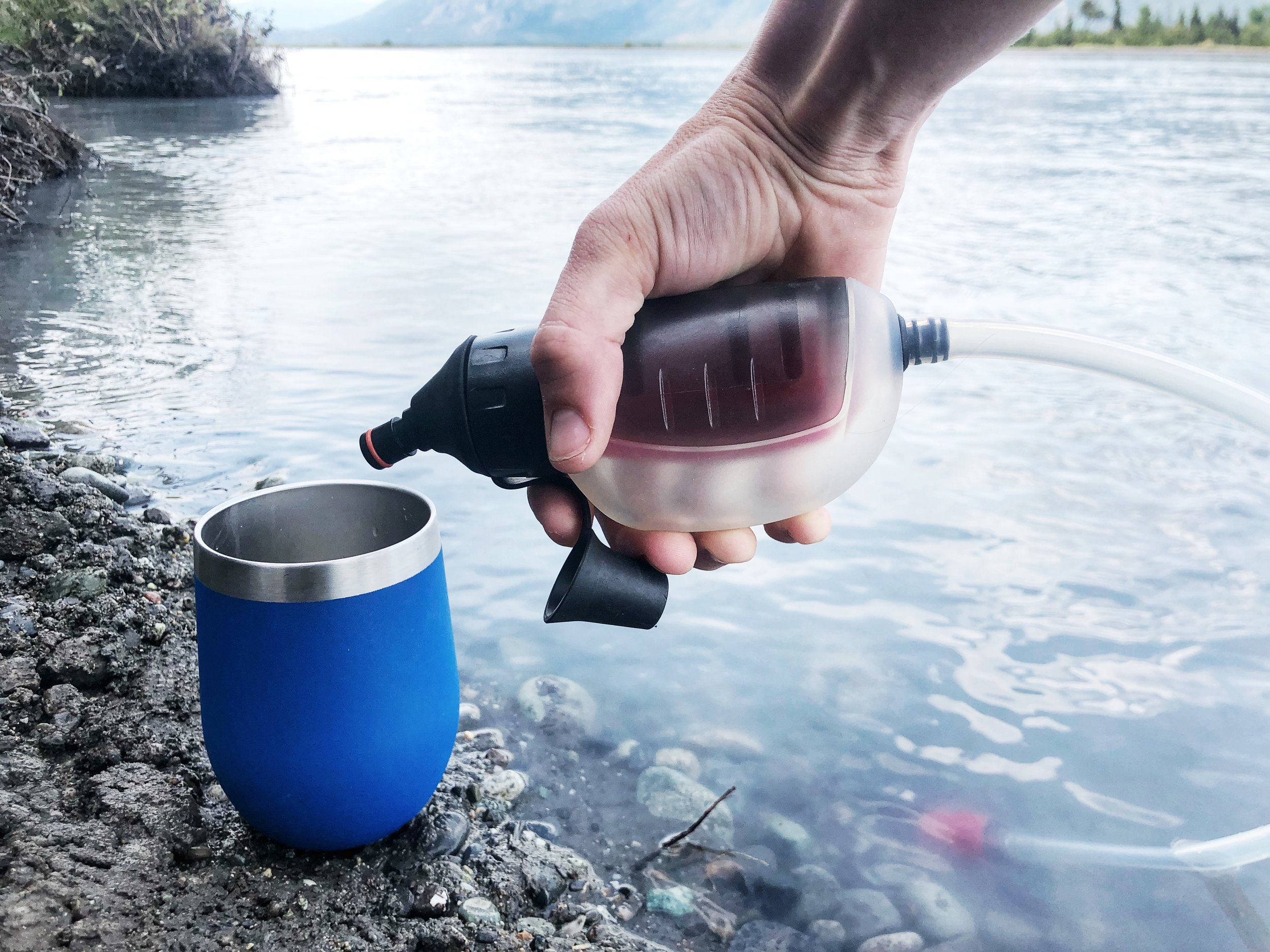 The MSR TrailShot works wonders, even in Alaska waters, which are chalk full of glacial silt.