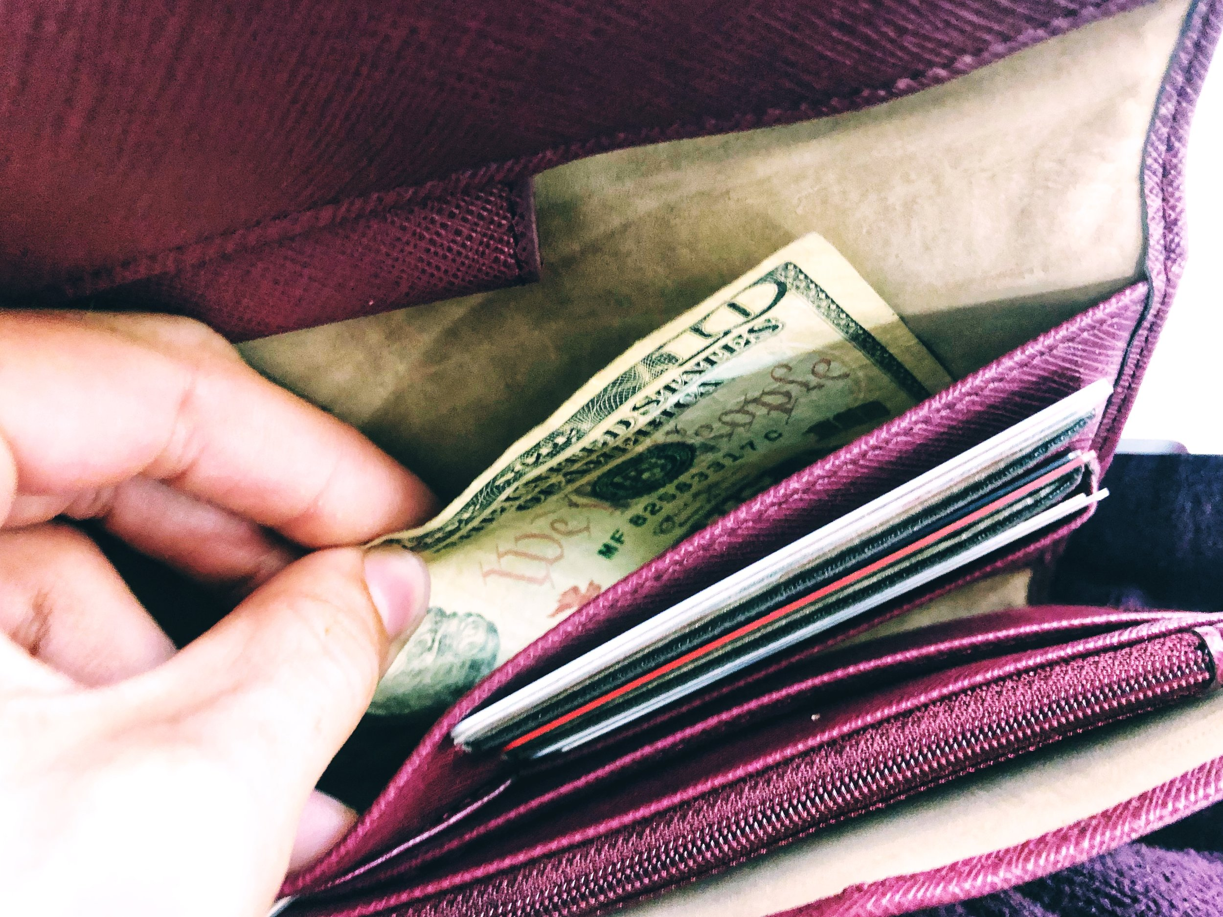 Avoid the surprise of pulling the last $10 bill from your wallet!