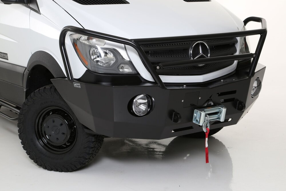 Winch with an  Aluminess  winch bumper