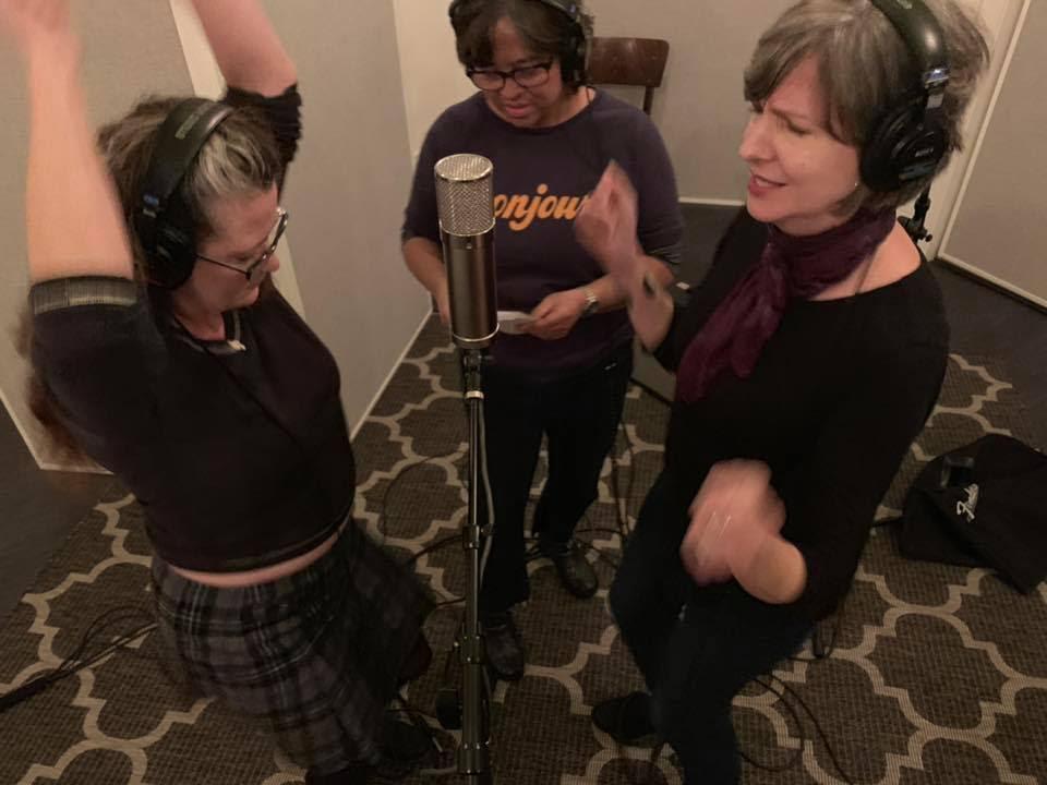 Swamp dancers: Laura Cavaluzzo, Marissa Hereso and Sally Mudd at Boxer Lodge Studio North.