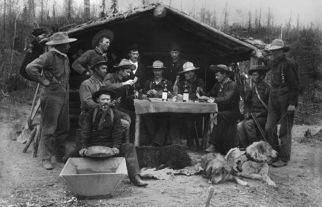 mountain men, their whiskey and their dogs