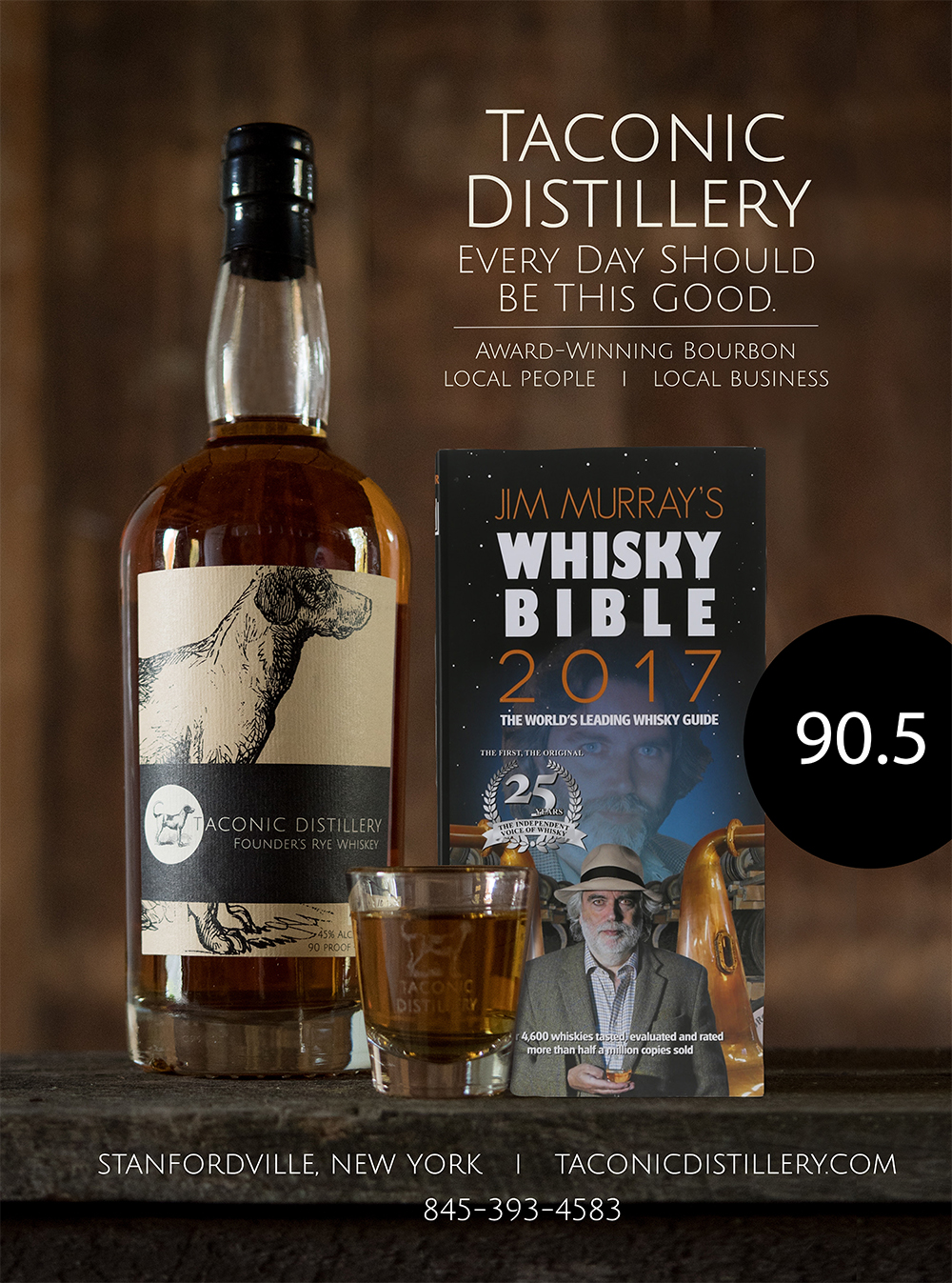 The Whisky Bible rates Founder's Rye at 90
