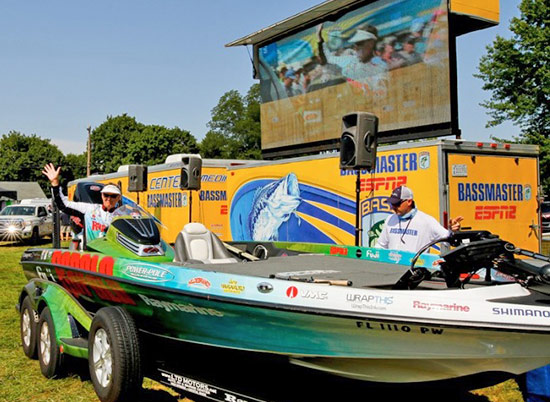 My best finish came of the season came at the Chesapeake Bay. Here I'm participating in the drive-thru weigh-in.