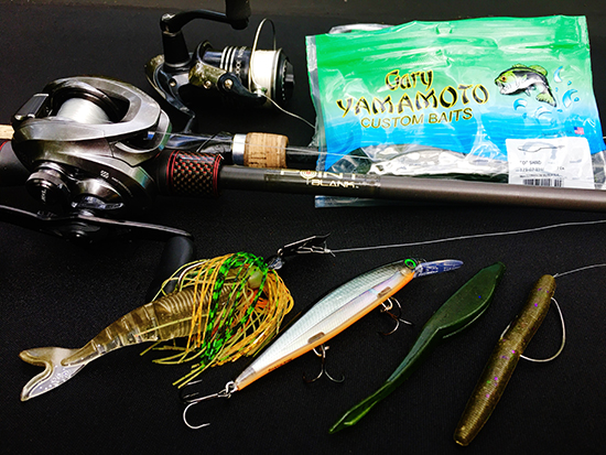 These are the lures I used throughout practice and competition.