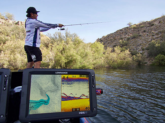You can cast a D-Shad a long way on spinning gear, and the fish will come out of pretty deep water to grab it.