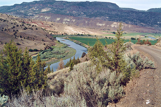 Oregon's beautiful John Day River, a tributary of the Columbia River that accommodates runs of salmon and steelhead and is also rated as one of the best smallmouth rivers in the Western United States.