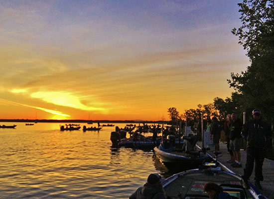 Sunrise on Lake Champlain, day-1 of the competition.
