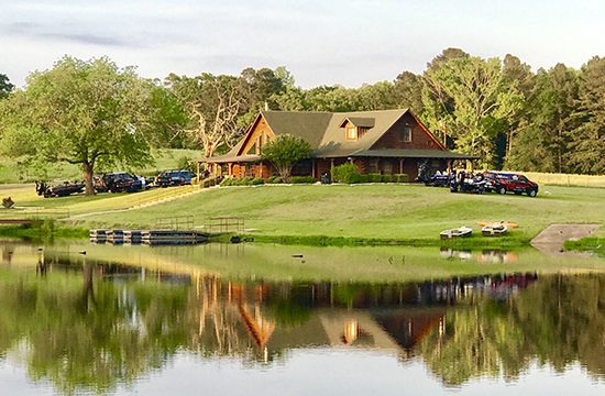 The lodge at Sugoi Lakes in Mineola, TX