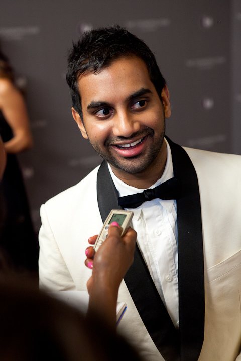 Ansari, pictured above, has been celebrated for publicly speaking as a feminist and advocate for women's rights