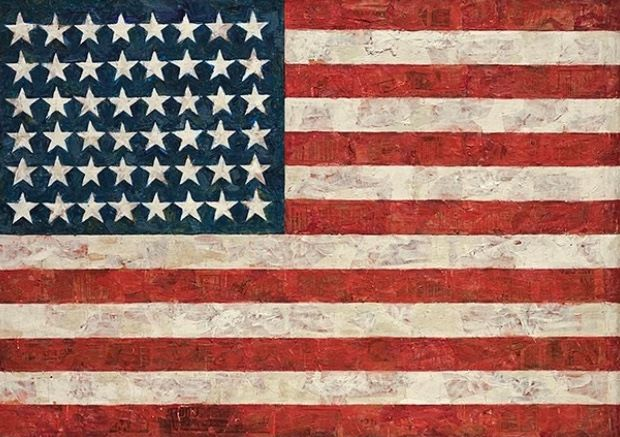 "Oetting's insights transition seemingly simple works like Jasper Johns's ""Flag"" into ornate expressions of queer identity and politics"