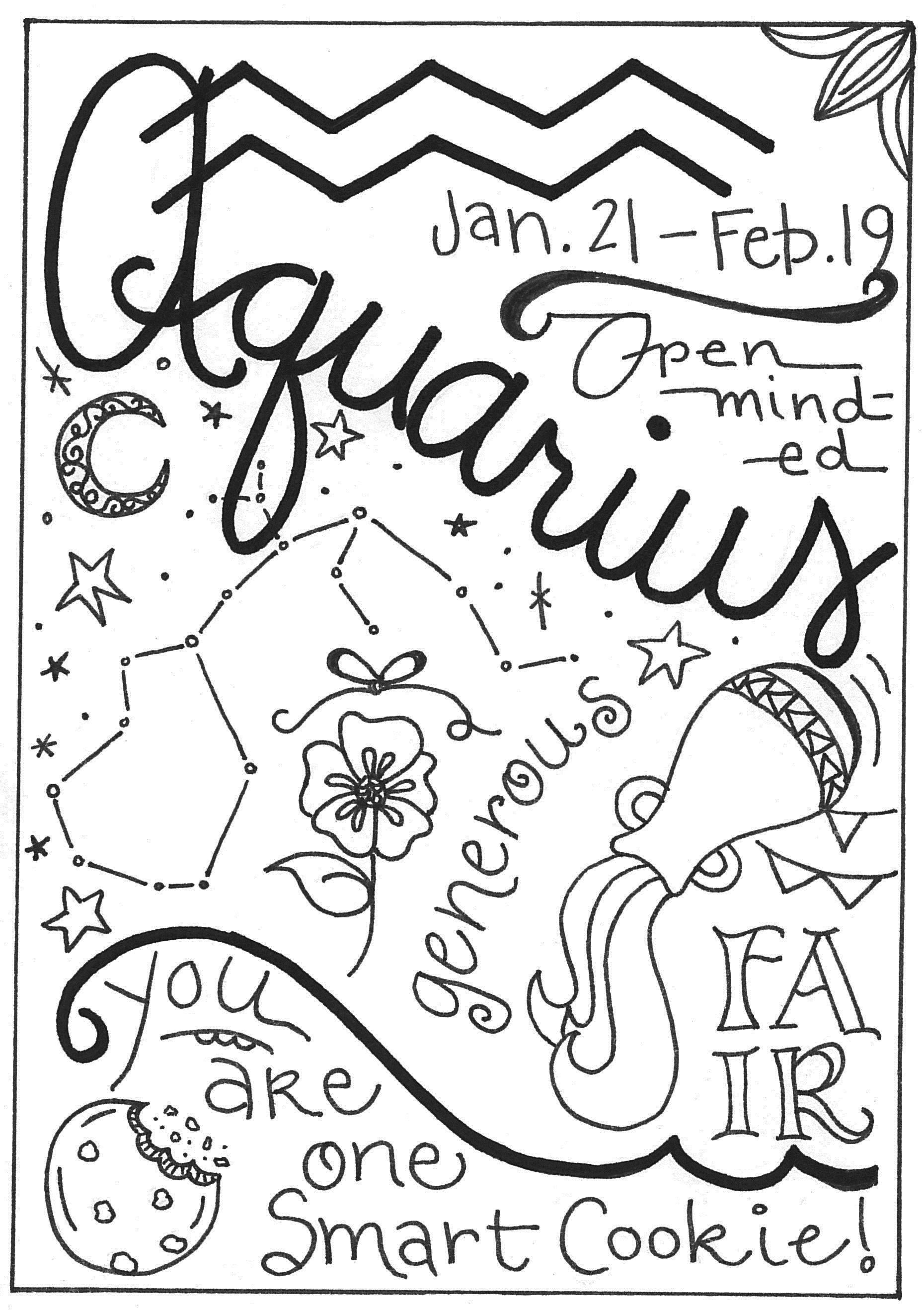 Aquarius Greeting card