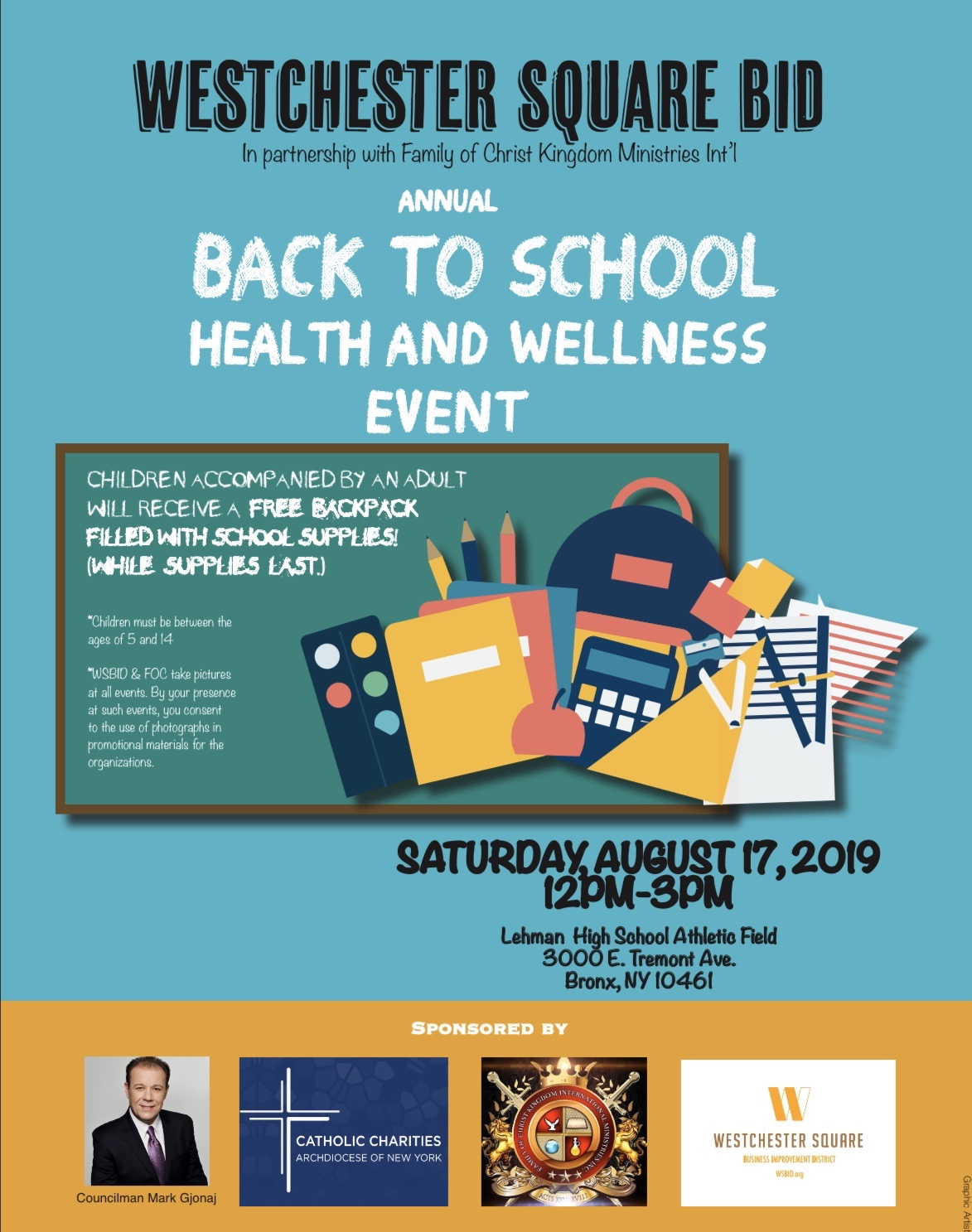 August 17, 2019 - Back to School Event
