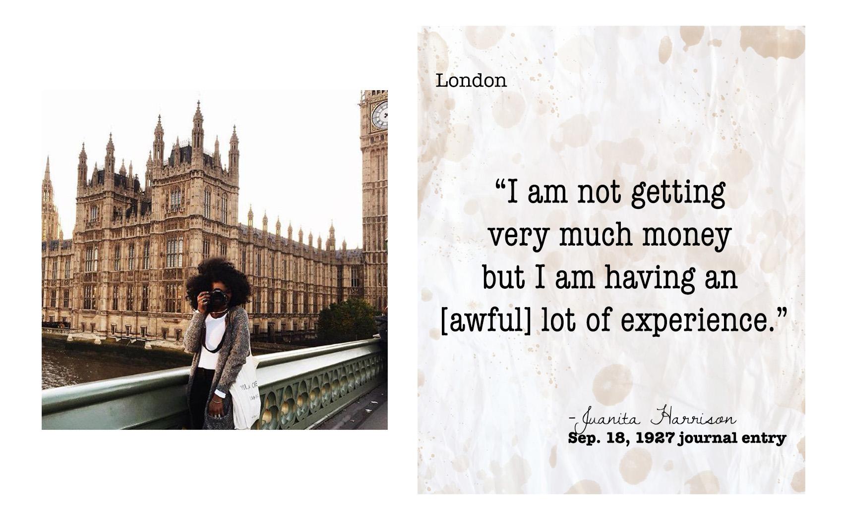 Creative director and visual storyteller  Asiyami Gold  in London.
