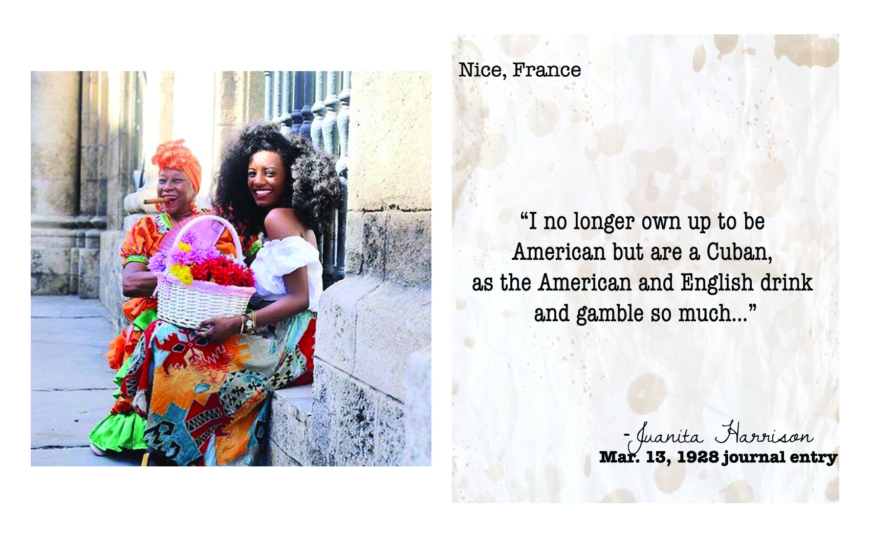 Teastained traveler  Abyssinia  in Cuba