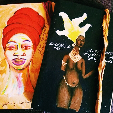 """Nariya's VGB Journals: from the Paradesi•Banjara and """"Until this is Over..."""" series, respectively."""