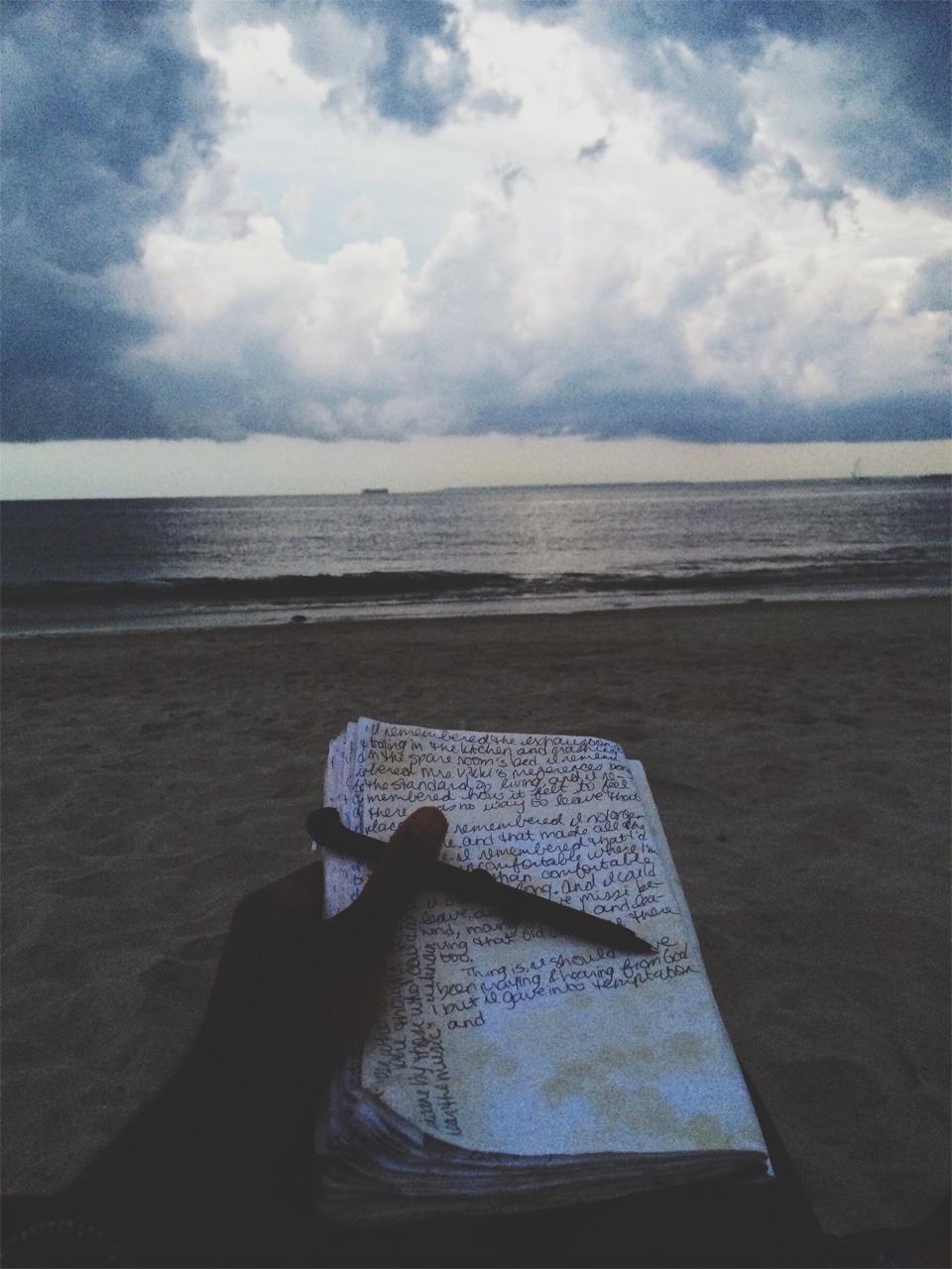 Journaling, 2015.  Brighton Beach.