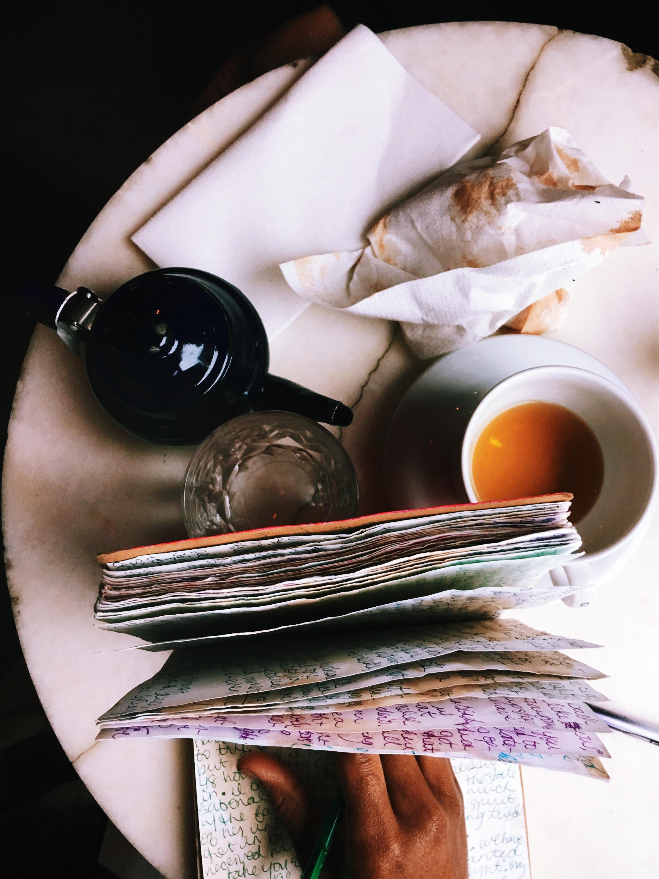 Journaling, 2018. Cafe Rue Dix, Brooklyn, NY.