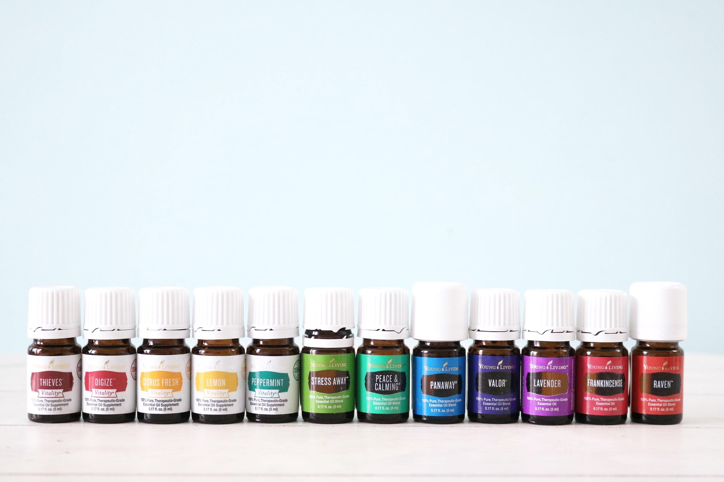 essential oils + diffuser -