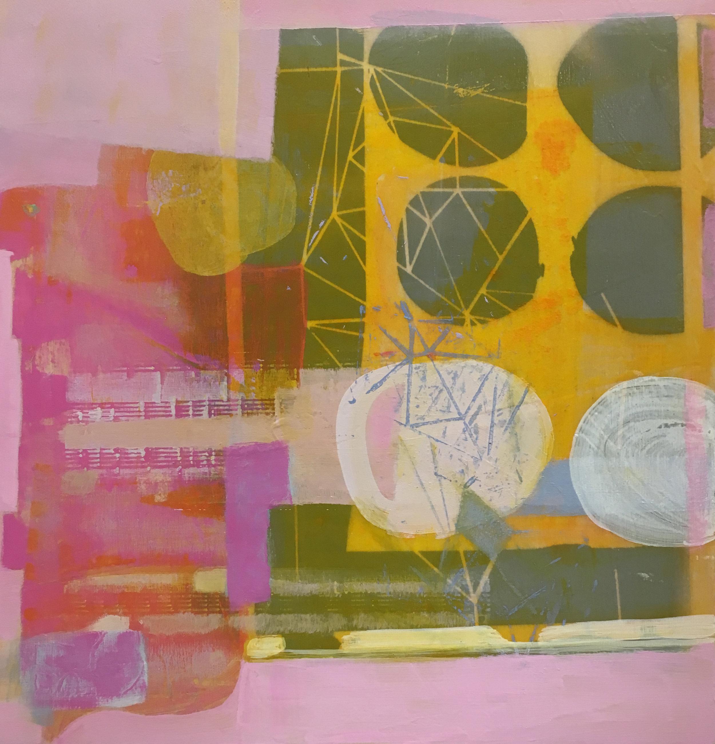 IMPROVISED MELODY, Acrylic, 14x14