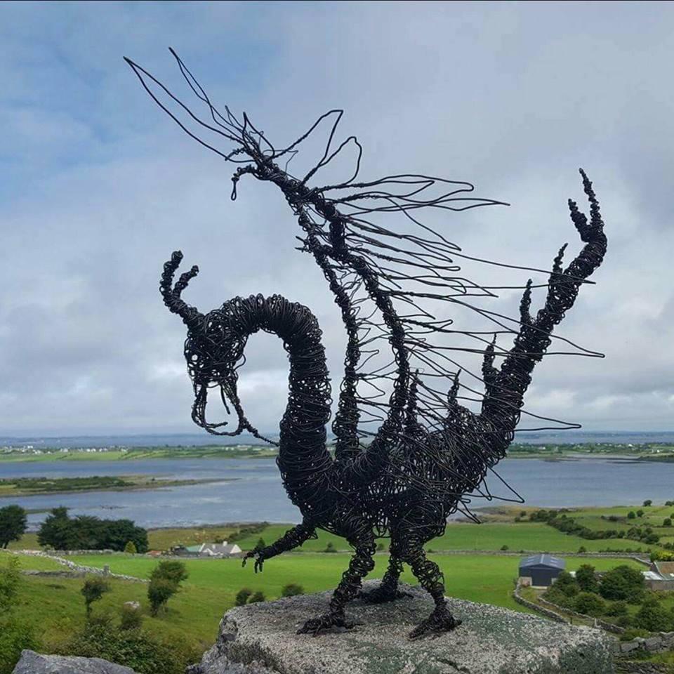 Black Dragon approx 50 cm tall