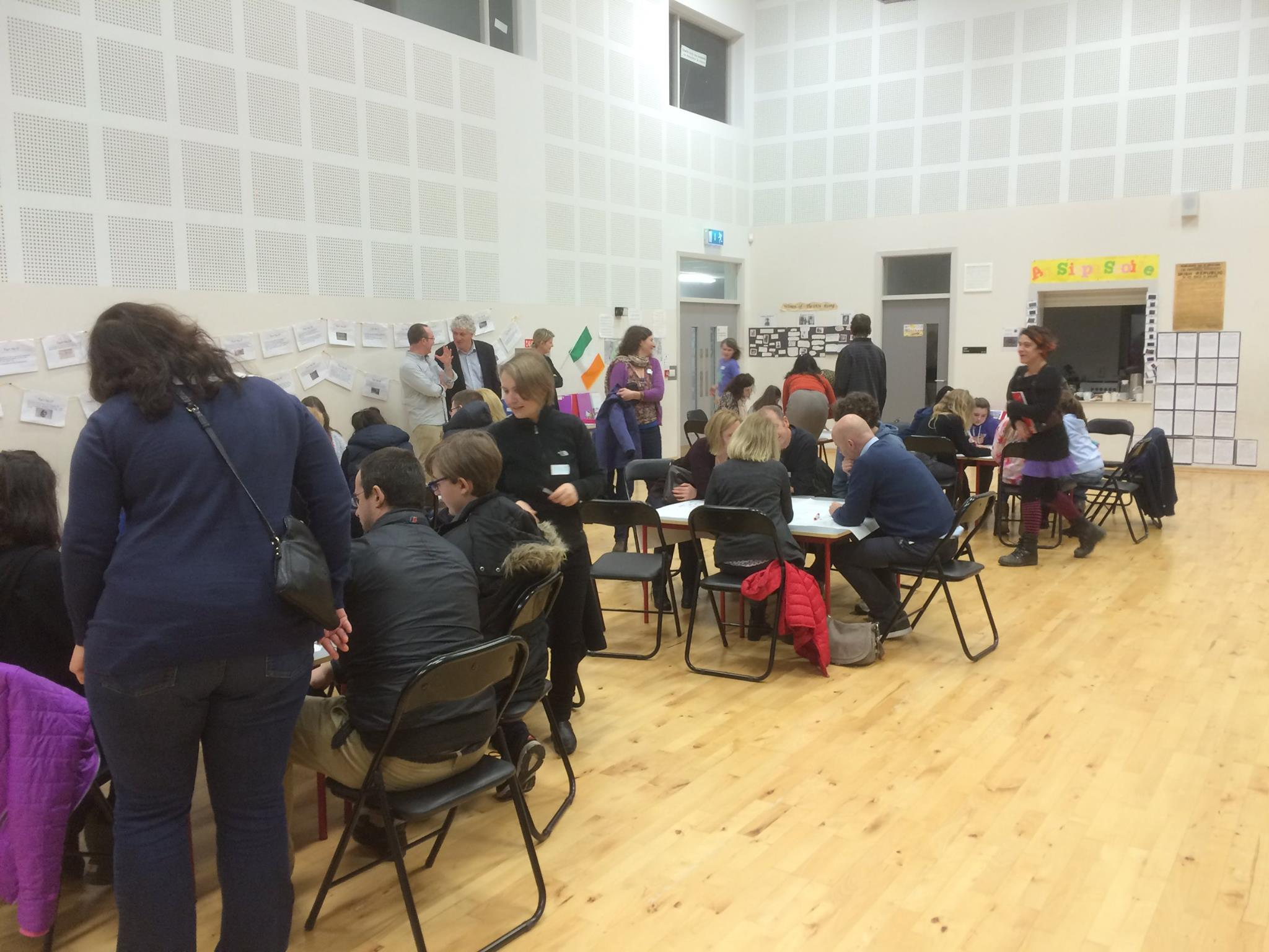 Students and families at our consultation meeting
