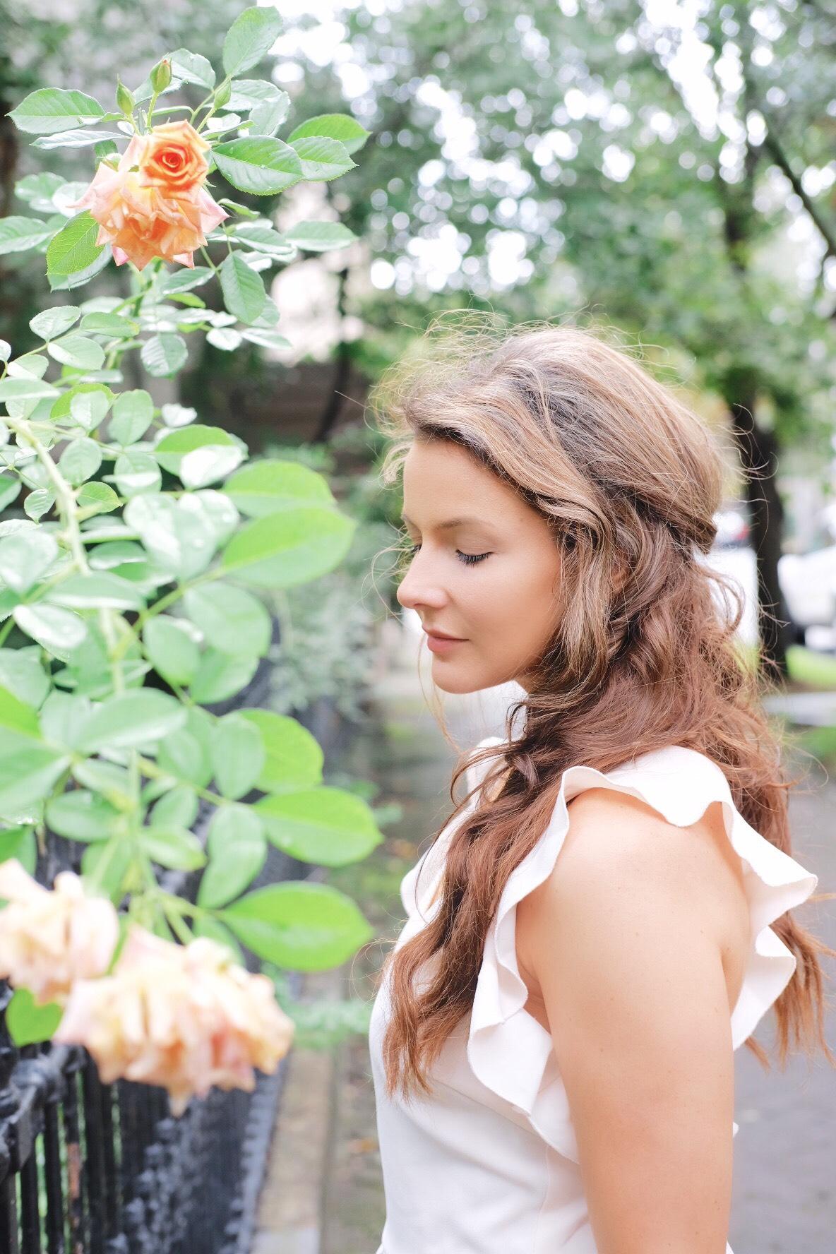 Brenna Lauren Michaels in Pink Dress by Roses
