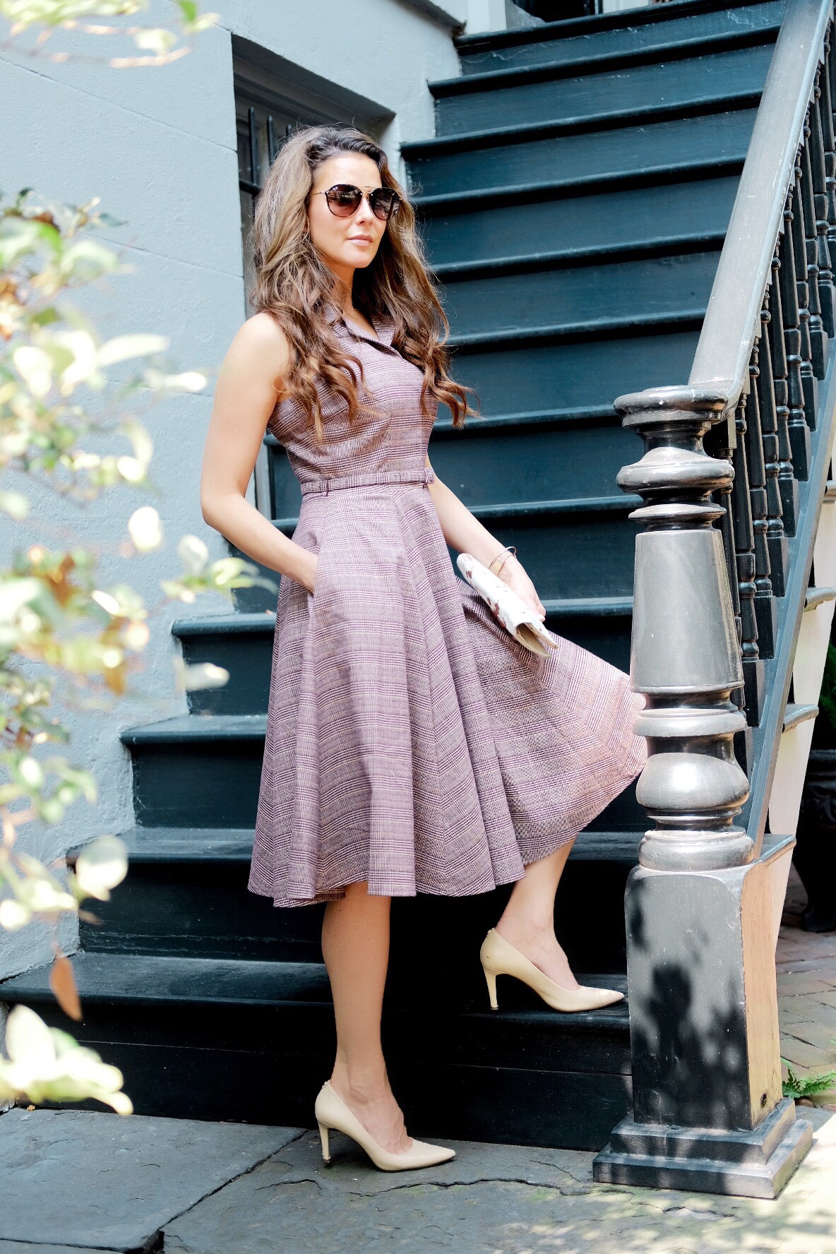 Brenna Lauren in Gal Meets Glam Dress in Savannah, Georgia