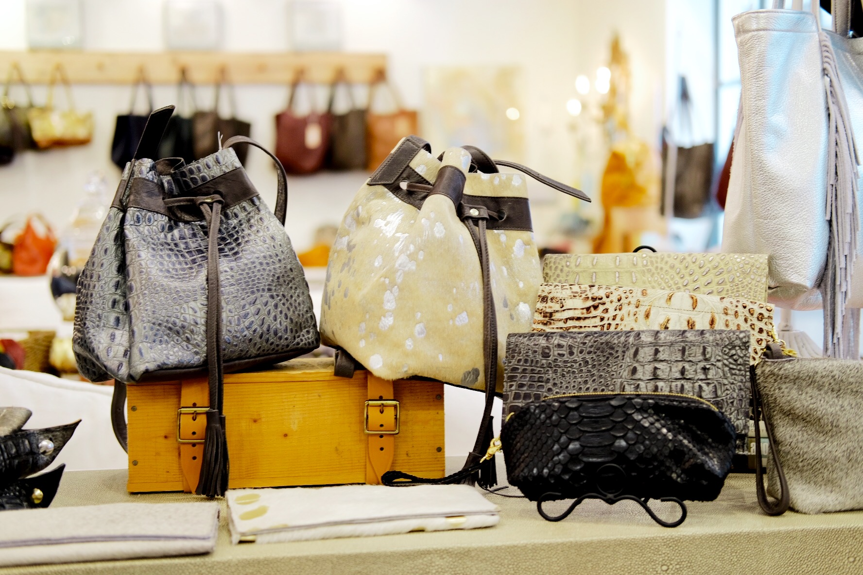 Leather bags in fall colors at Satchel Savannah