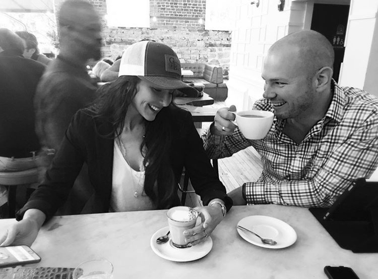 Brenna and T.C. Michaels having brunch at Collins Quarter Cafe in Savannah, GA