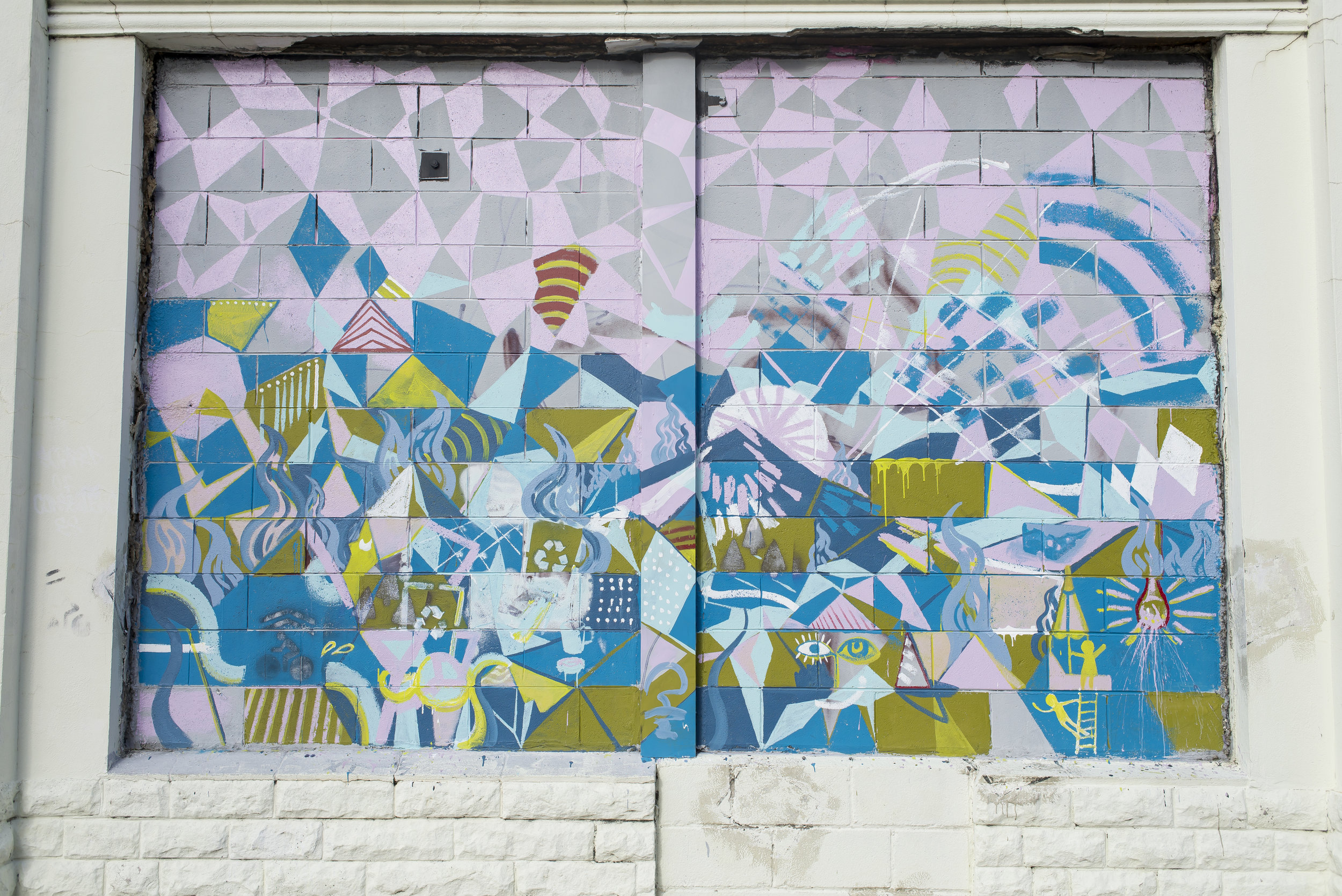 Wall art in Savannah's Starland District