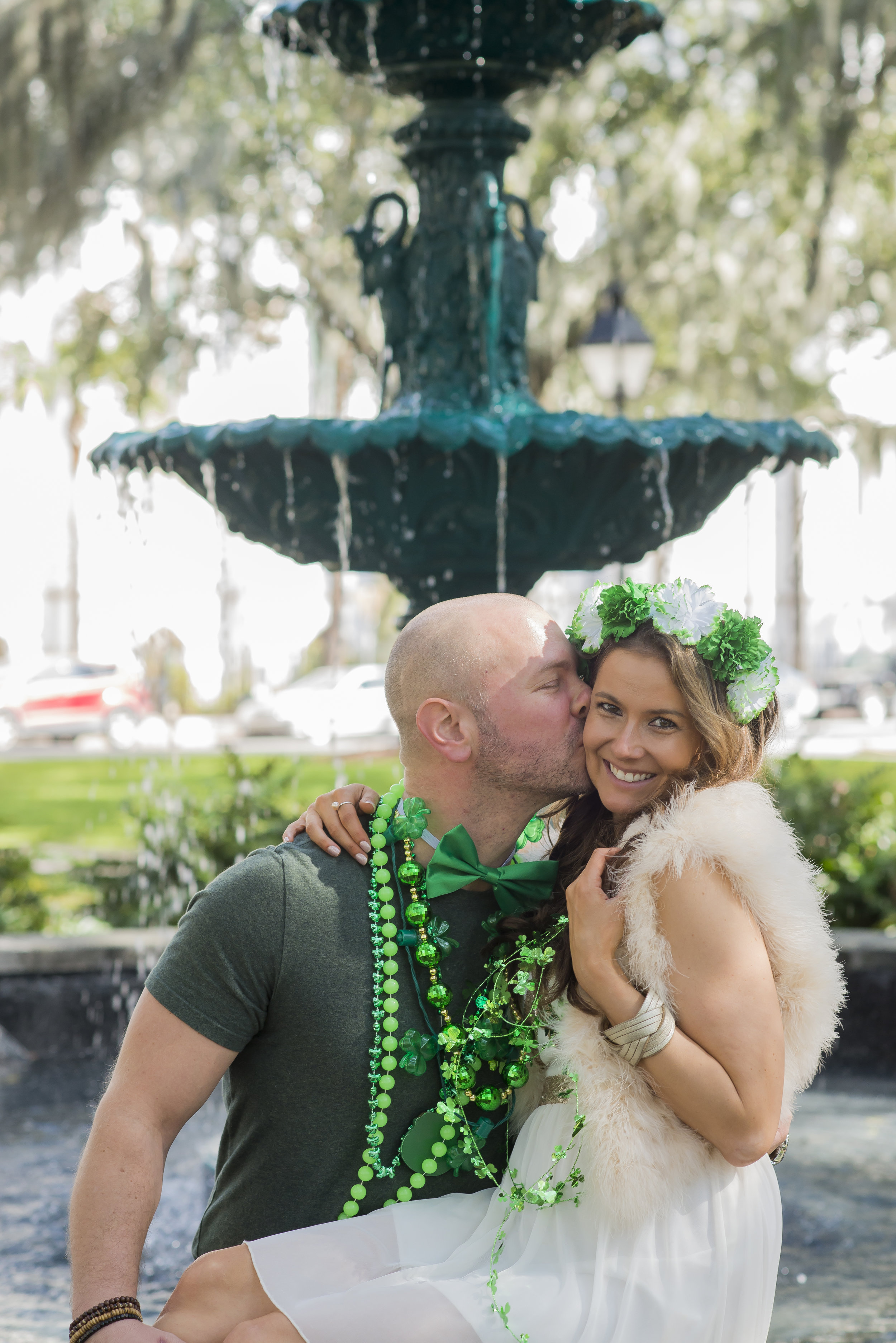 T.C. & Brenna Michaels dressed for St. Patrick's Day