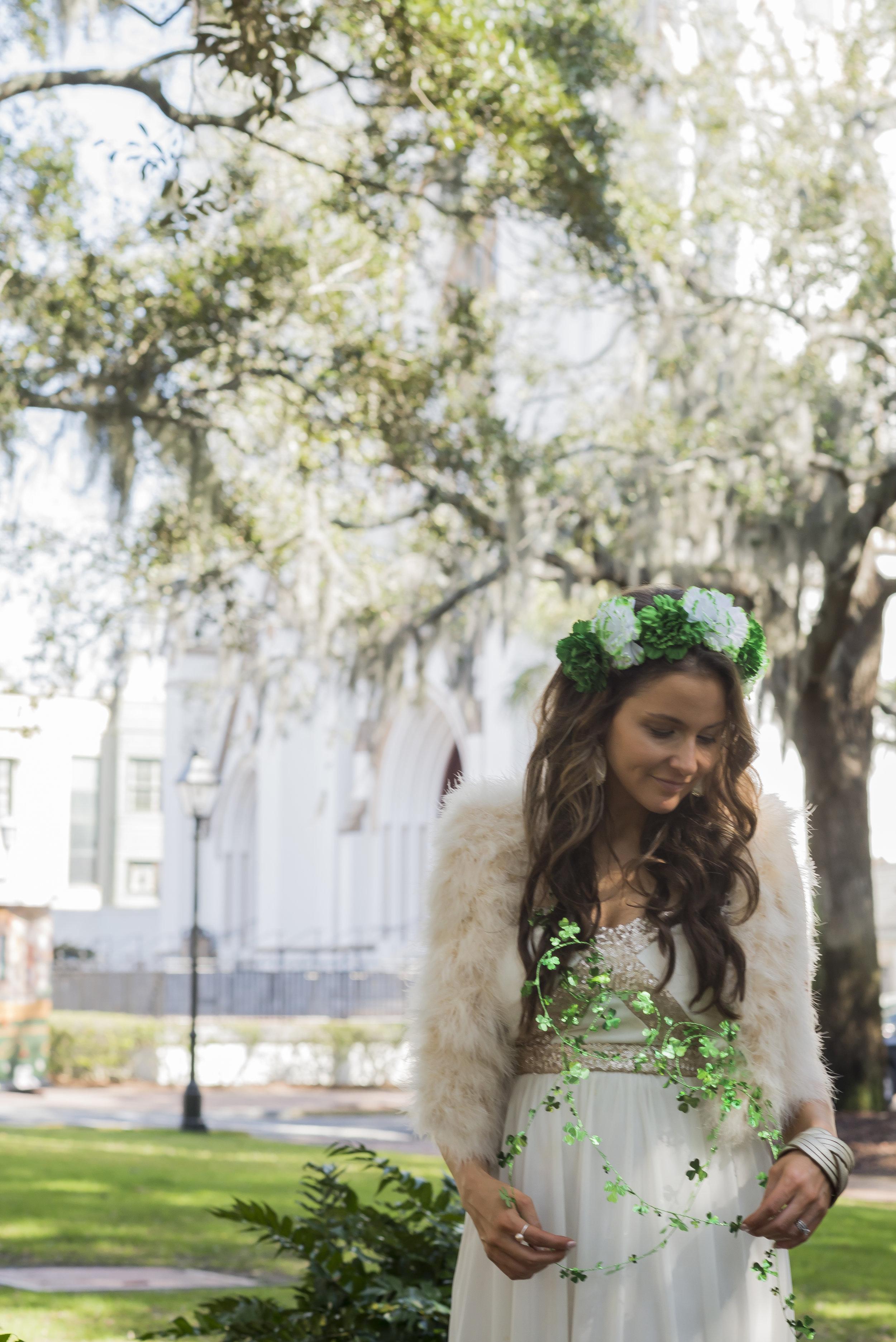 Brenna Lauren Michaels in St. Patricks Day outfit | Genteel & Bard Savannah GA