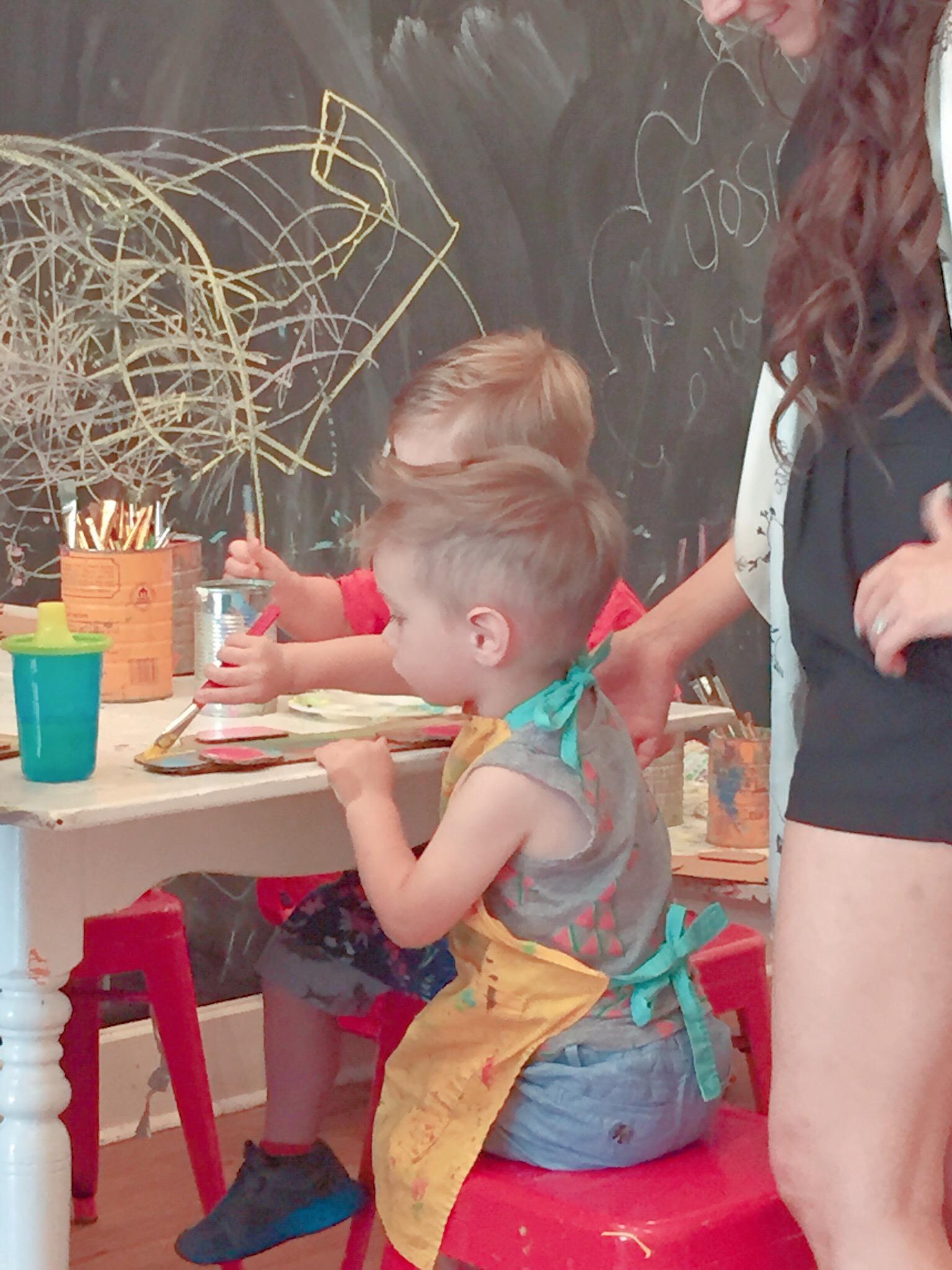 Rhett painting at Henny Penny