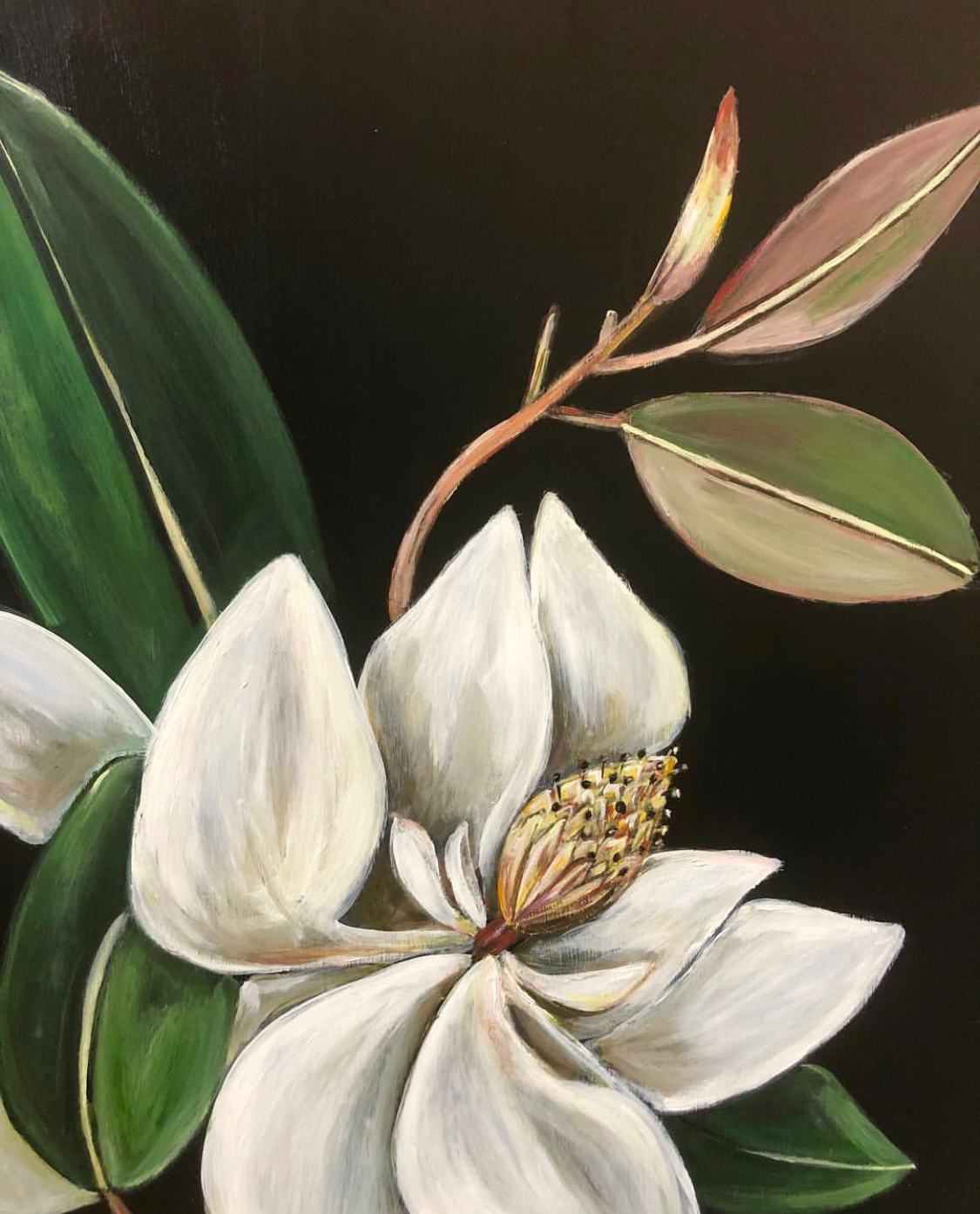 Magnolia Studies  - part of the Resin Flower Series by Mary Margaret Monsees , photo courtesy of her Instagram,  @mstudio