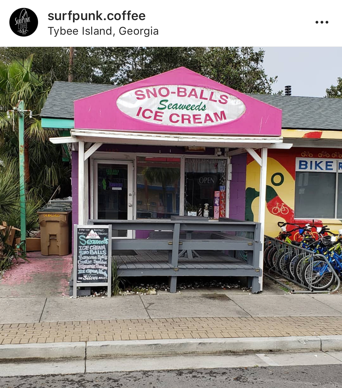 Seaweed's Ice Cream on Tybee Island | photo  @surfpunk.cofee