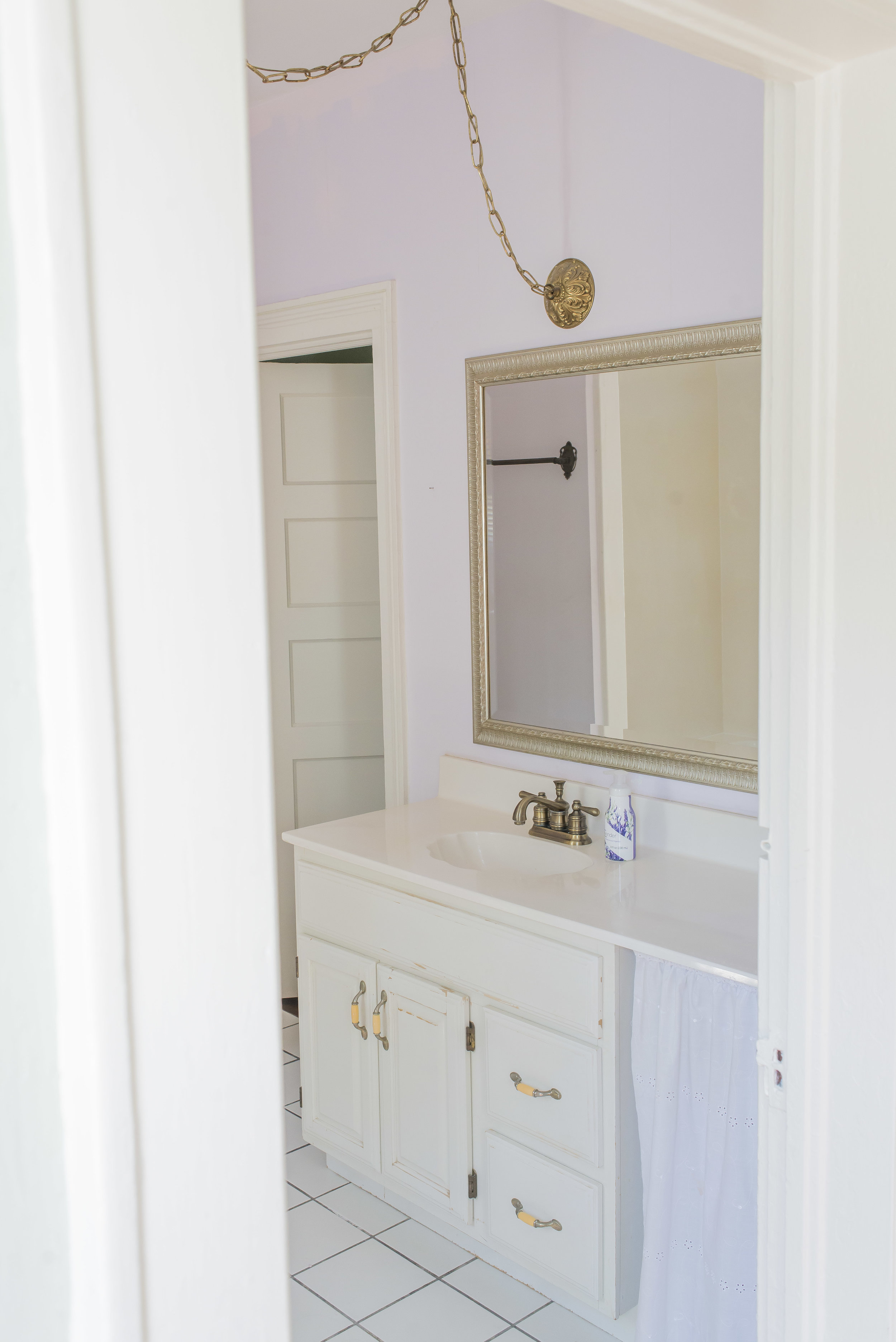 The master bathroom left much to be desired in that I'm sure upgrades hadn't been made to it in decades. But once the old was removed, it was a beautiful canvas to bring our master bathroom dreams to life.