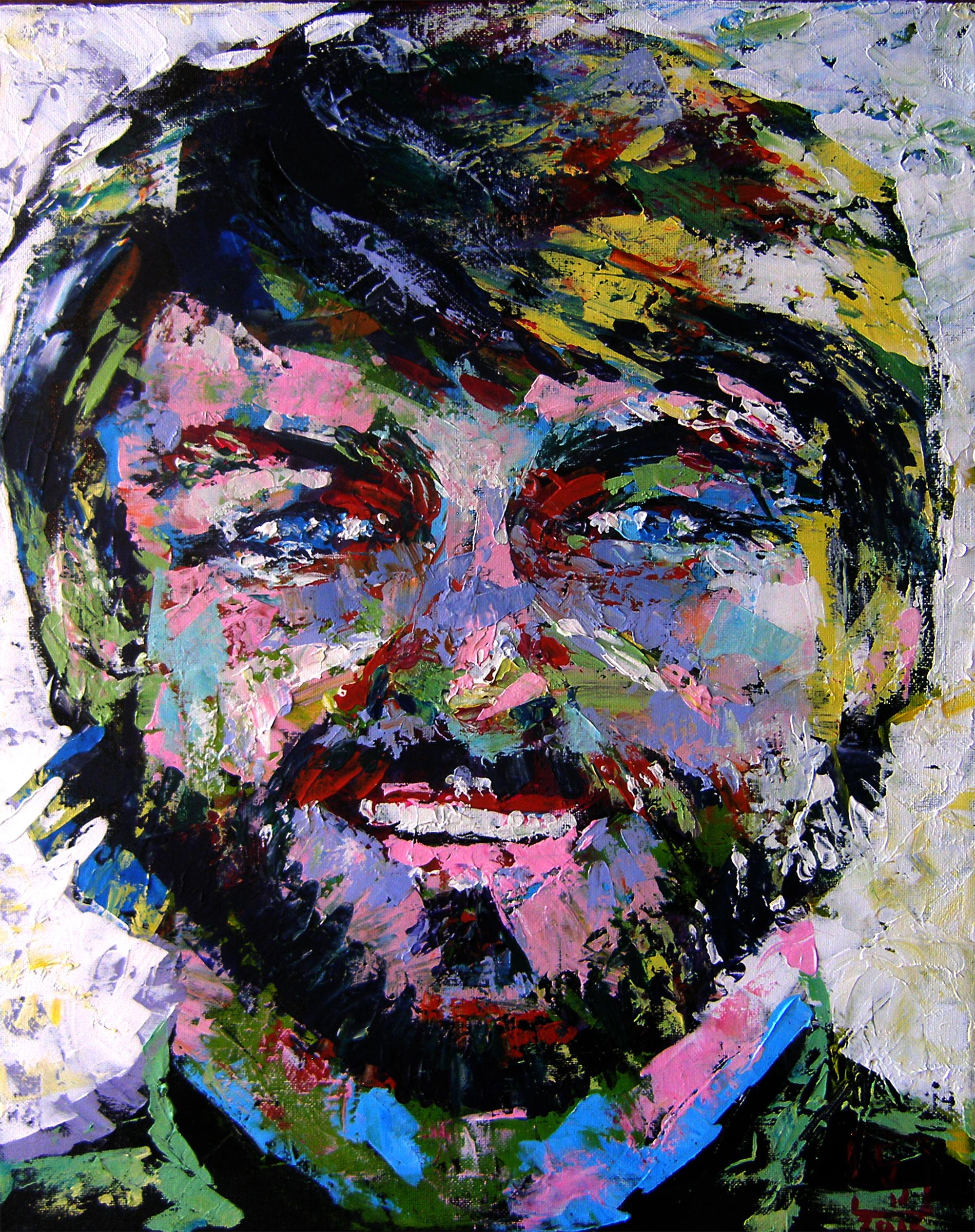 """Acrylic on canvas 18""""x24""""."""