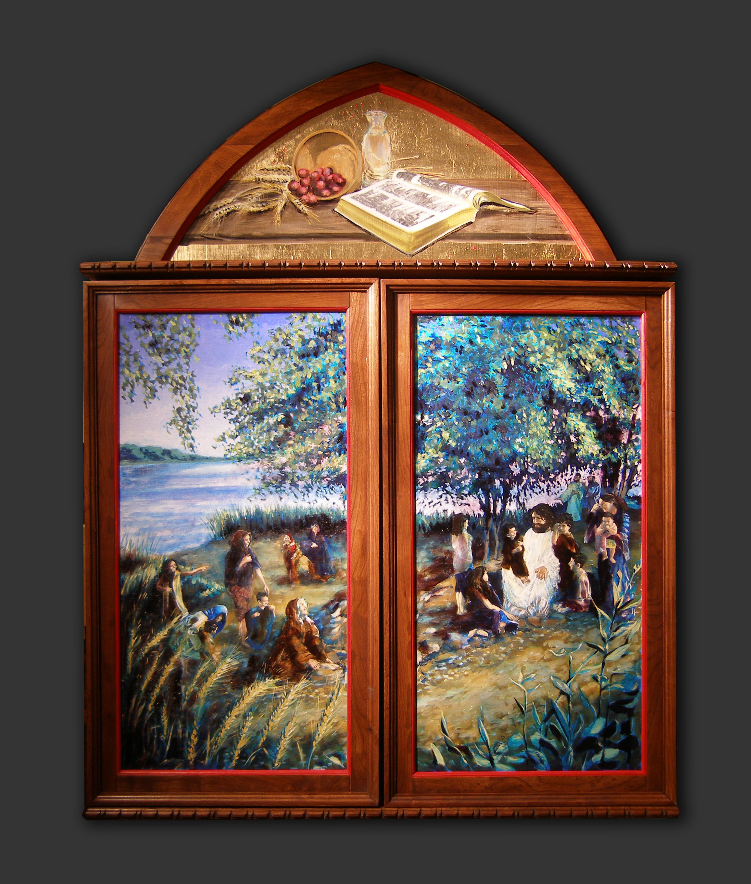"""Life of Christ"" triptych, closed, St. Mark's Lutheran Church, Lincoln, NE"
