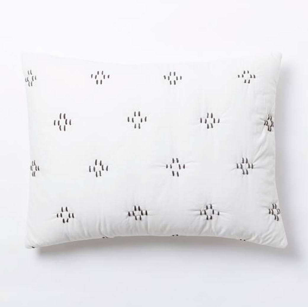 Dash Stitch Pillow Sham