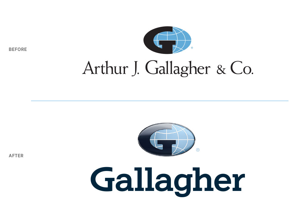 Gallagher Logo Before and After