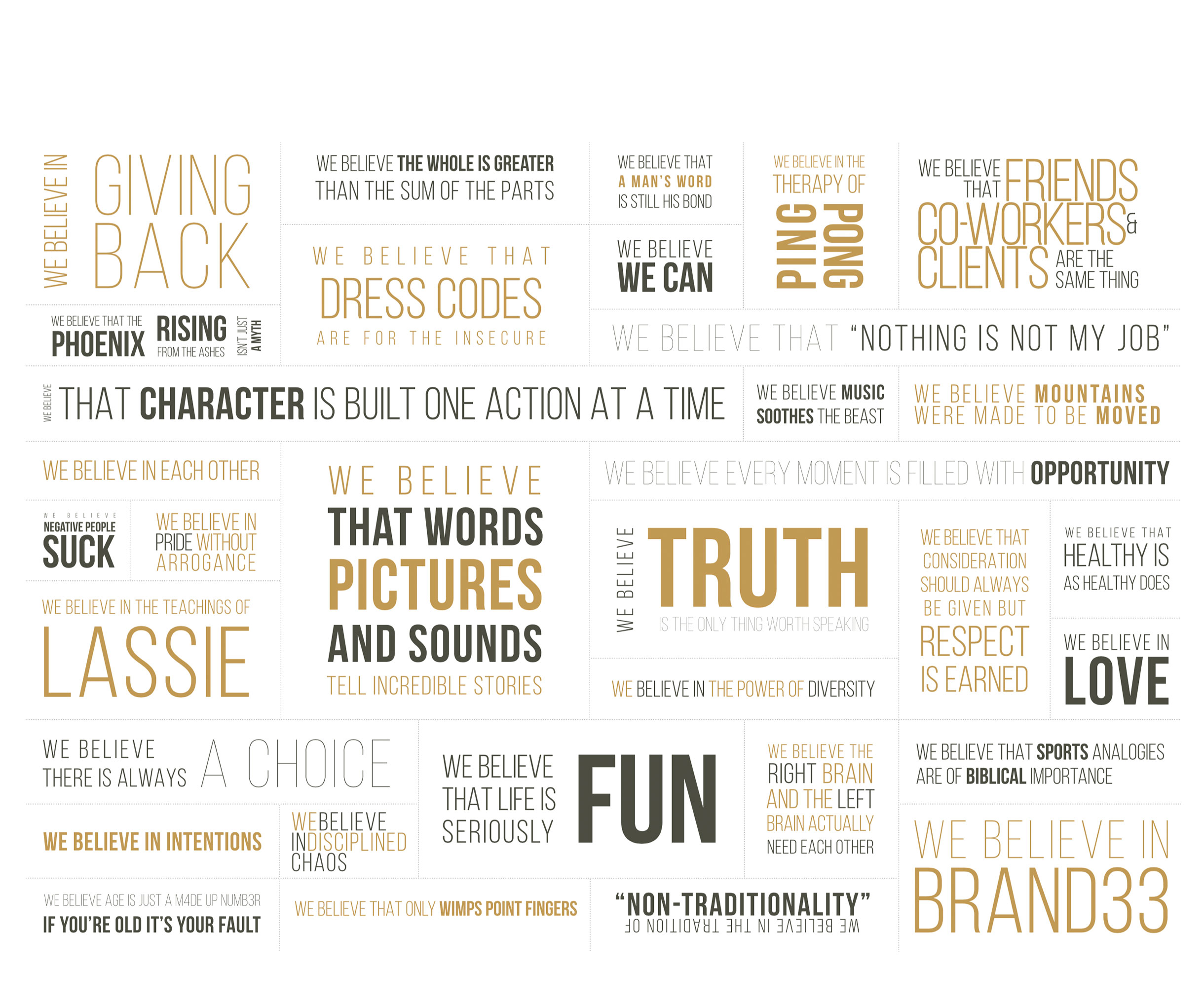 Brand 33 Manifesto