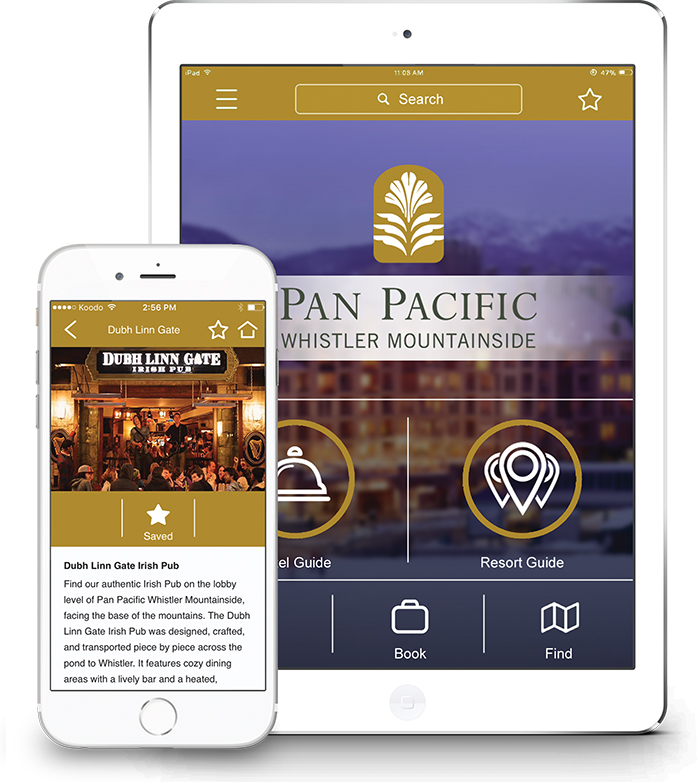 Pan Pacific Whistler Mountainside Mobile App