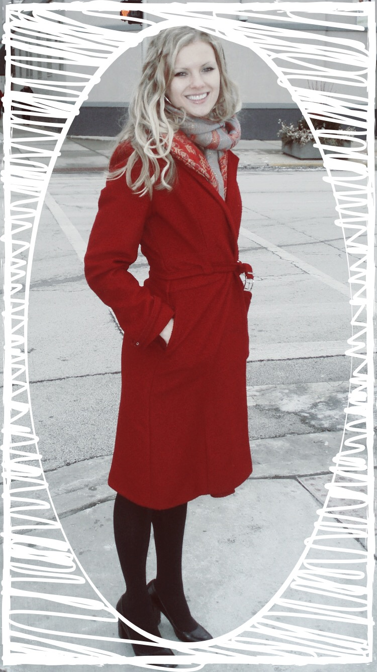 This is the coat I wore. Not terribly risqué. But it was hot wearing it in a restaurant for hours.