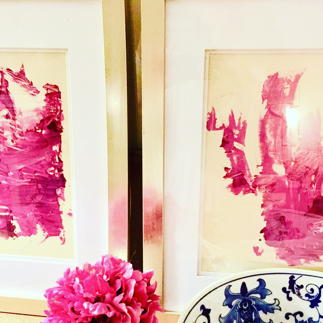 How to: Buy a canvas, mix acrylic paints to your desired color, move paint brush on canvas.