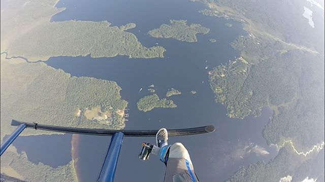 Demos demos demos! It never stops at ADK! #parachutedemonstration #raquettelake #summer2019 #skydive