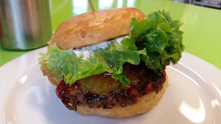 Valentina's Organic Bistro & Bakery, Russian Burger.   Photo by K. Laible