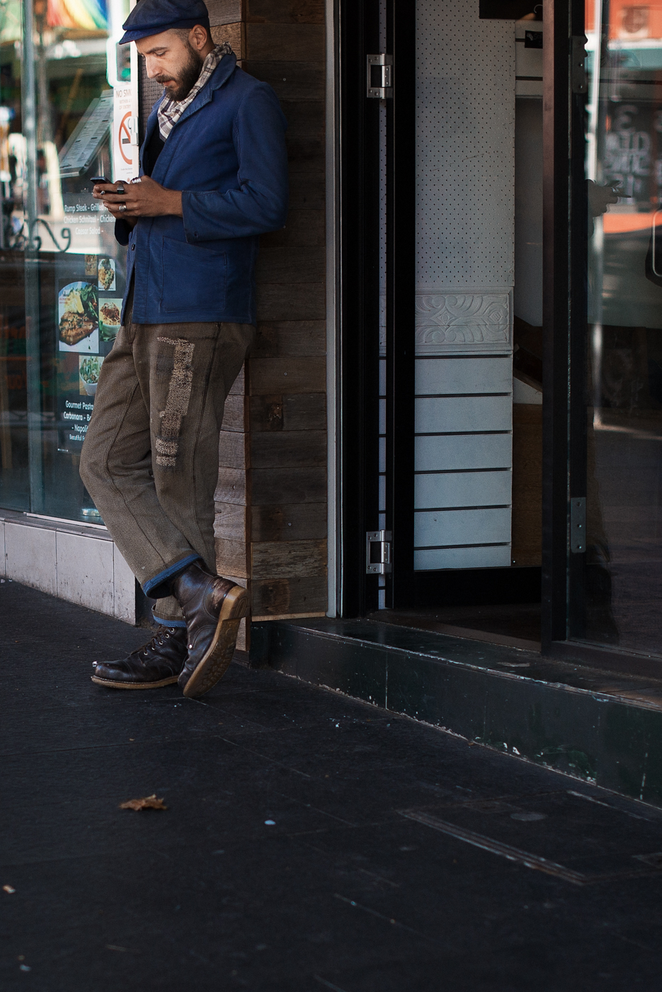 Patch.  Similar look:   Wooster + Lardini Patchwork Wool-Tweed Blazer  .